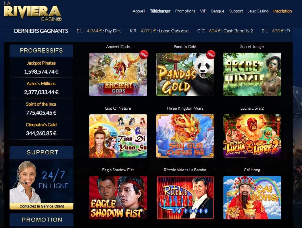 jeux eiviera play casino