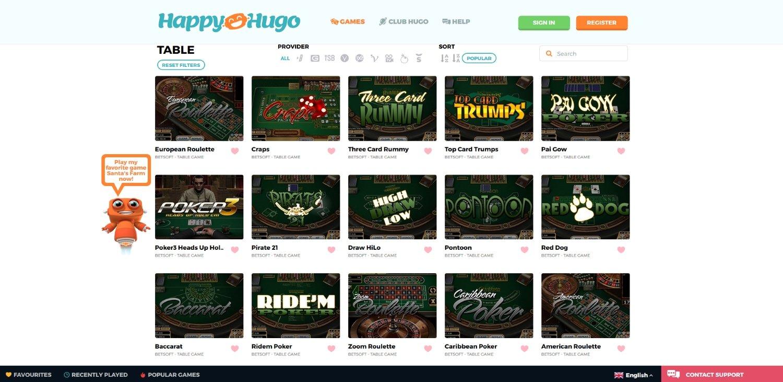 avis happy hugo casino