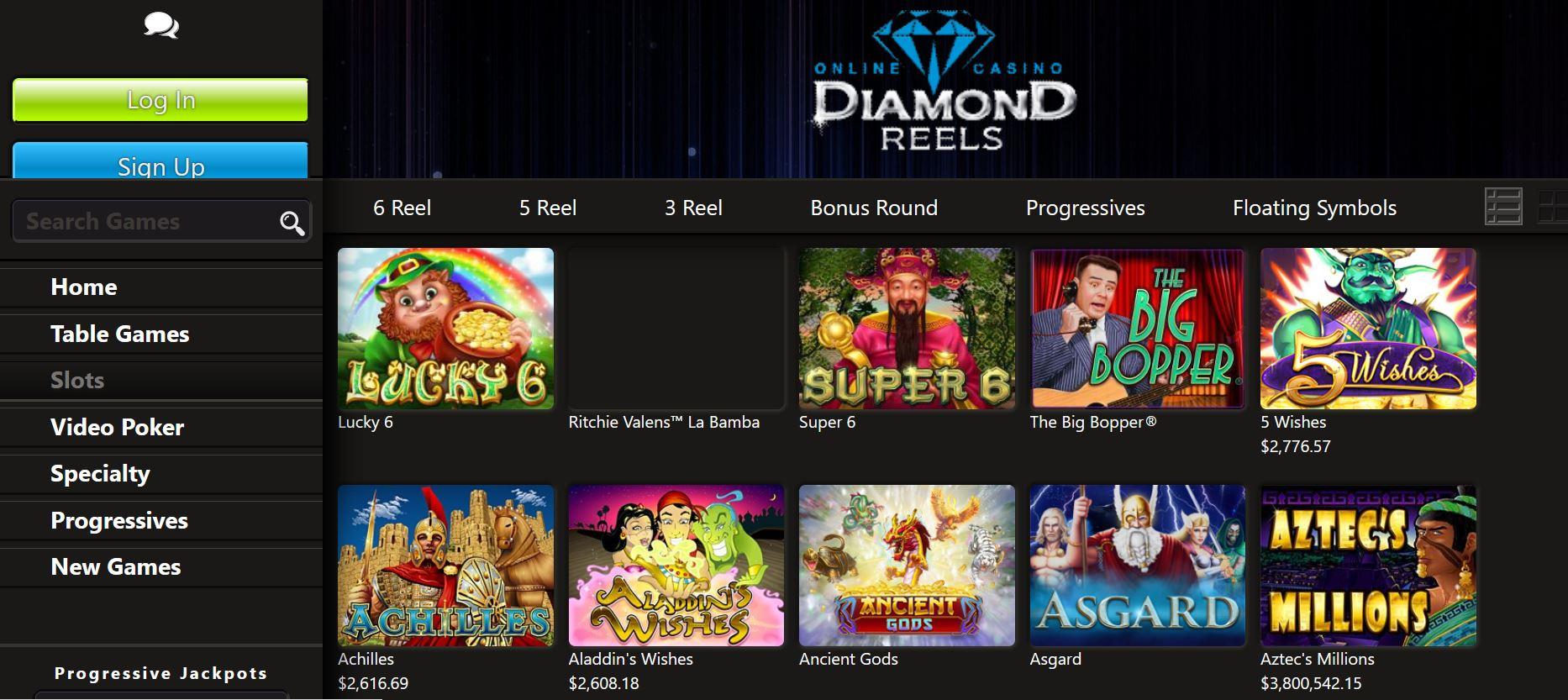 jeux diamond reels