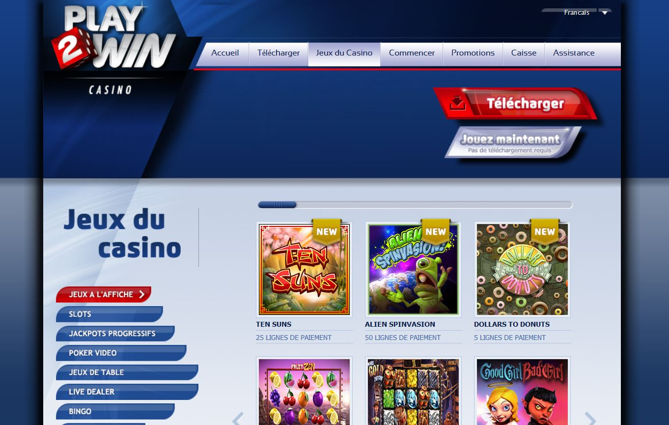 play2win jeux