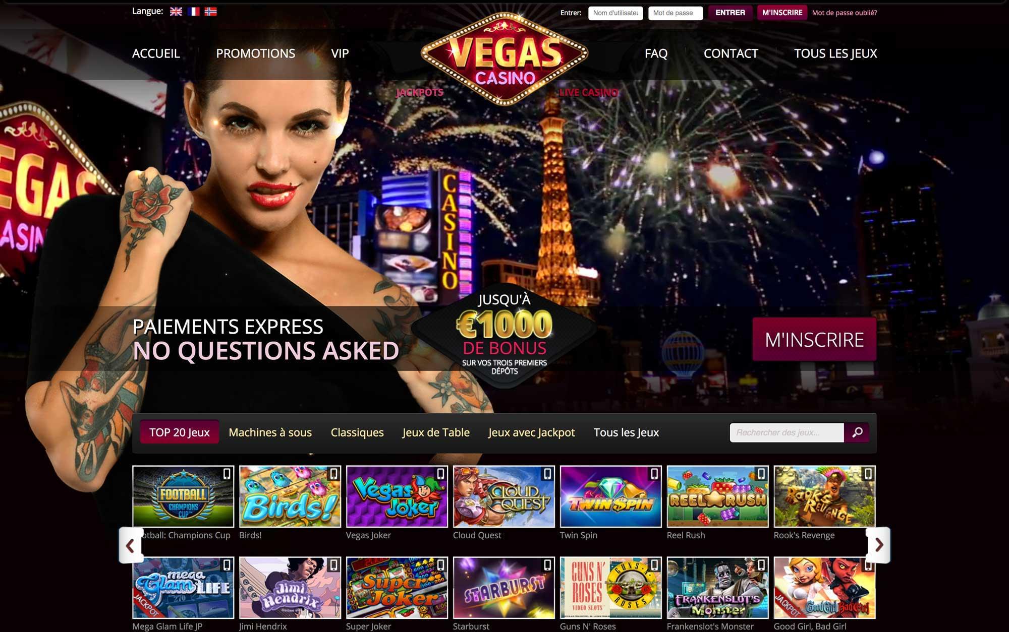 paiement vegas casino