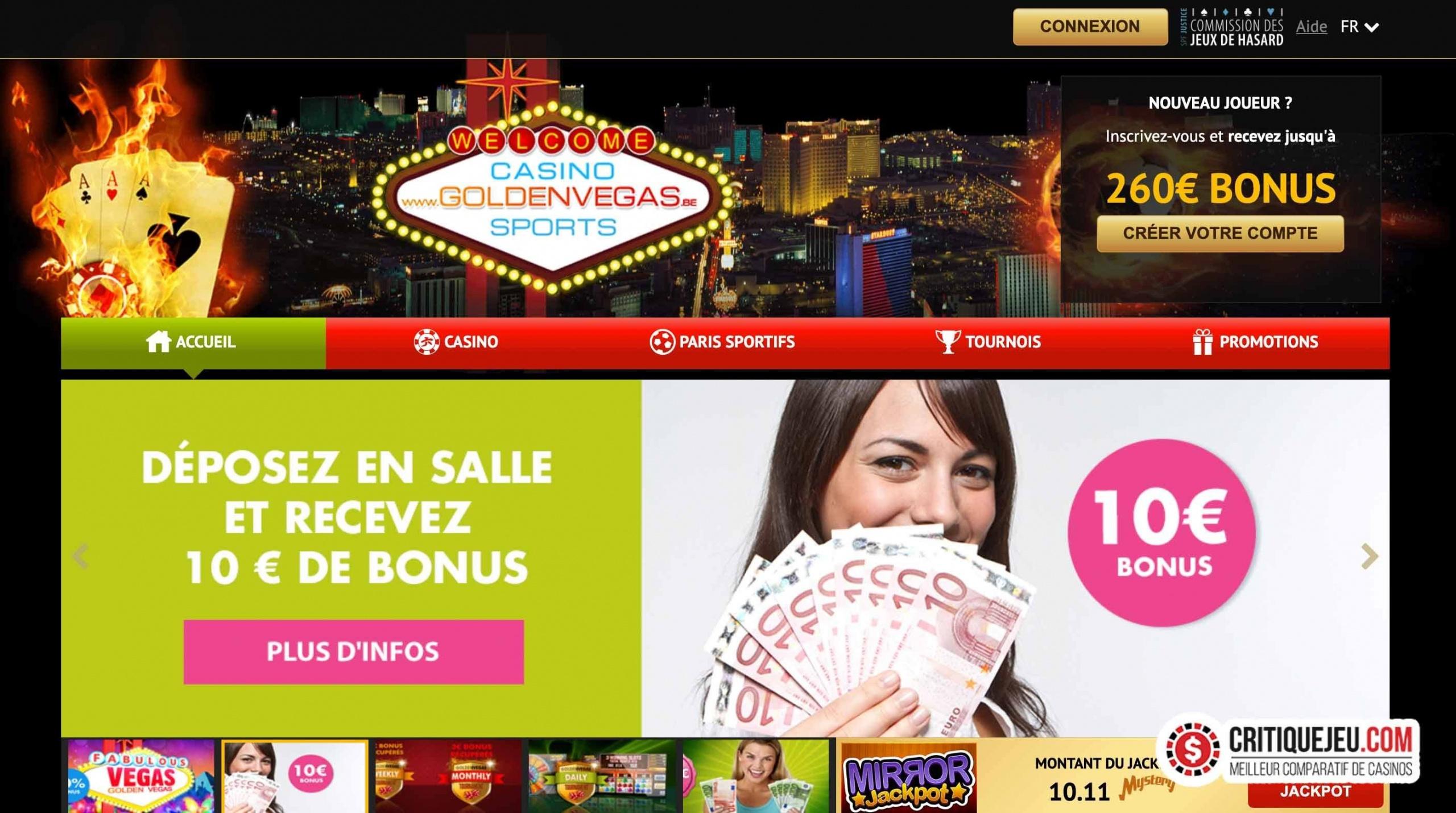 casino golden vegas avis